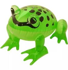 INFLATABLE BLOW UP FROG 39cm GREEN TOY PARTY ACCESSORIES JUNGLE ANIMAL POOL UK