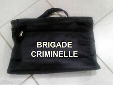 SACOCHE PORTE DOCUMENT PORTABLE 25x38cm BRIGADE CRIMINELLE POLICE