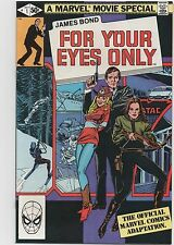JAMES BOND : FOR YOUR EYES ONLY #1  MARVEL MOVIE  1981  NICE!!!