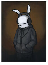 LUKE CHUEH Headphones 2015 print poster hoodie hip hop sad rabbit humor music