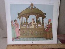 Vintage Print,MONGOL EMPEROR,Le Costume Historique,1888,Racinet