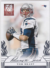 Tom BRADY & Peyton MANNING Passing the Torch INSERT Football Card PATRIOT BRONCO
