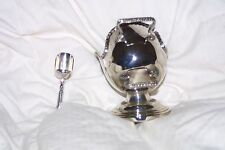 Vintage Silverplated Sugar Scuttle With Scooper, Made In England