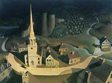 The Midnight Ride of Paul Revere (1931) by Grant Wood - A4 Poster