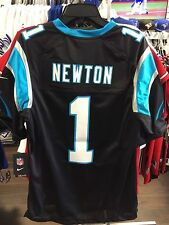 Men's Carolina Panthers Cam Newton Limited Jersey NFL Football Small Black Home
