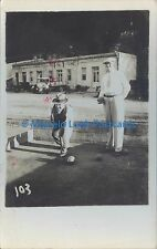 SPORTS BOWLS BOCHAS REAL PHOTO 1934 SALTA ROSARIO DE LA FRONTERA