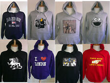 6 MIXED COLOUR UNISEX HOODIES Funny Rude Gift Assorted SIZES  JOBLOT CAR BOOT