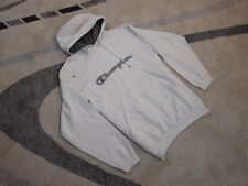 Classic vintage Champion hooded sweater top L retro white large logo design