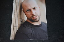 Chris daughtry signed autógrafo 20x25 cm en persona Daughtry exploración