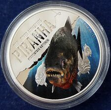 "MDS NIUE ISLAND 2 DOLLARS 2013 PP/ PROOF ""PIRANHA - REAL RIVER MONSTERS"", SILBER"