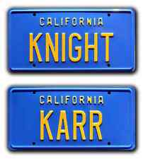 Knight Rider / KITT Trans Am / KNIGHT & KARR *STAMPED* Prop License Plate Combo