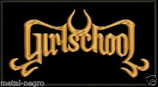 GIRLSCHOOL EMBROIDERED PATCH CLASSIC MOTORHEAD THE PLASMATICS WENDY Metal Negro