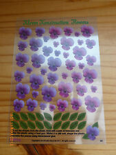 2 Sheets Of - Klever Konstruction - Mouldable Flowers - Pansies