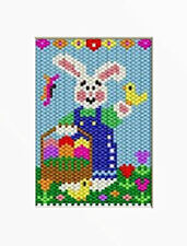 Bunny With Chicks Pony Bead Banner Pattern