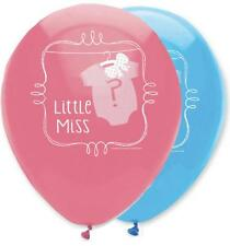 "Gender Reveal Baby Shower - Bow or Bowtie 12"" Latex Balloons x 6"