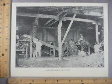 Rare Antique Original VTG Sugar Cane Grinding Philippines Photogravure Art Print