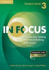 IN FOCUS LEVEL 3 STUDENT'S BOOK WITH ONLINE RESOURCES by BrowneCharles (2014,...