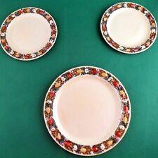 Adams Titian Ware Majolica Foliage Pottery Plates x 3