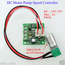 DC Motor Pump Speed Controller (PWM) Adjustable Driver Switch 1803BKW 2A 15V 30W