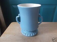 Vintage Red Wing Art Pottery Pale Blue with a Creamy White Interior Vase