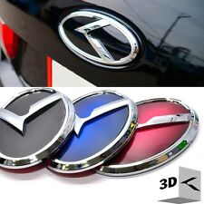 3D K Logo Rear Trunk Emblem Black / Blue / Red for KIA Forte Koup 2009-2013