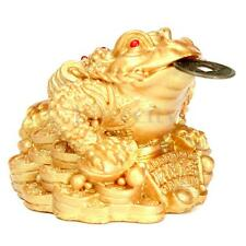 Feng Shui Money Lucky Fortune Oriental Chinese Frog Toad Coin Home Gift Decor