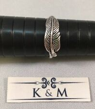 Sterling Silver Stamped .925 Feather Ring Size 9