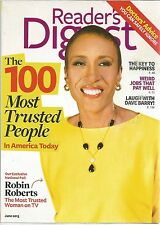 Reader's Digest June 2013 100 Most Trusted People in America/Key To Happiness