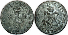 Louis XV DOUBLE SOL (2 SOUS ) 1740 V  TROYES