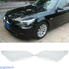 2x Replacement Headlight Lens Cover (RIGHT+LEFT ) For BMW 5 Series E60/E61 03-10