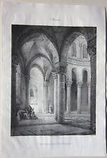 1838 S.T MENOUX lntérieur eglise Chapuy Sagot Allier Desrosiers Souvigny Moulins
