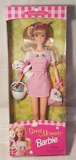 Mattel 1996 Special Edition Sweet Moments Barbie NRFB 17642 Dog & Basket