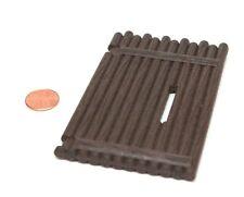 """Playmobil Vintage Western Fort Dark Brown """"Log"""" Gate Door 3028 3419 3420 3773"""
