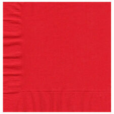 50 Plain Solid Colors Luncheon Dinner Napkins Paper - Red