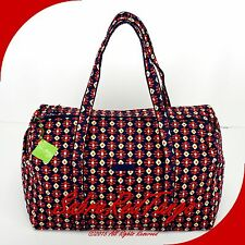 NWT VERA BRADLEY QUILTED LARGE DUFFEL GYM TRAVELLING BAG FLORAL TRIBAL VALLEY
