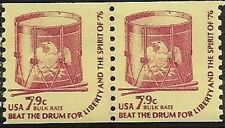 US 1615 Drum 7.9c coil pair MNH 1976
