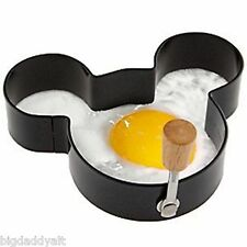 NEW DISNEY PARKS MICKEY MOUSE EARS METAL EGG RING PANCAKE SANDWICH CUTTER MOLD