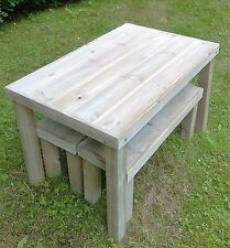 Handmade Wooden Garden Table and Benches