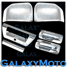 15-16 Ford F150 Chrome Mirror+2 Door handle+Smart Hole+Plate+Tailgate+Cam Cover