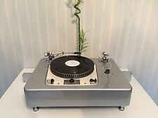 "GARRARD 301 TWO TONEARM VERSION 9"" 12"" SILVER METALIC Plinth Zarge"