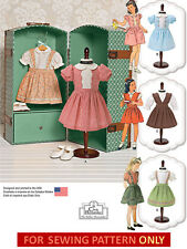SEWING PATTERN! MAKE 40S STYLE DOLL CLOTHES! FITS AMERICAN GIRL MOLLY~KIT~RUTHIE