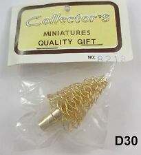 Vintage Miniature Dollhouse Brass Christmas Tree New in Pkg D30