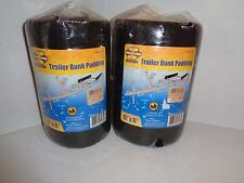 """Two New In Package 12"""" x 8"""" Marine Grade Boat Trailer Bunk Padding Black"""