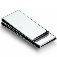 NEW Stainless Steel Money Clip Silver Metal Pocket Holder Wallet Credit Cards