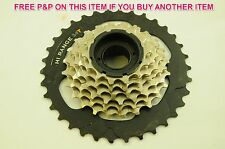 7 SPEED MEGA RANGE SCREW ON FREEWHEEL CASSETTE 14/34 HI-RANGE SUIT SHIMANO GEARS