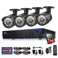SANNCE 4CH 1080P Video h.264 DVR Night Vision 2MP Security Camera System 1TB HDD