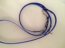 Royal Blue High Gloss Biothane Small- Med Dogs Adjustable Length - Very Strong