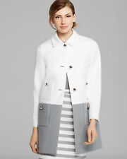 Kate Spade New York 'shipley' colorblock Coat with Bow Detail Size:8 $698 NWT