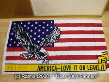 Fahnen Flagge USA Adler America Lovet IT OR Leaveit - 90 x 150 cm