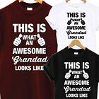 AWESOME SUPER GRANDAD T SHIRT FATHERS DAY XMAS CHRISTMAS BIRTHDAY GIFT PRESENT
